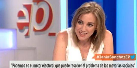 """Tania Sánchez se mete a fondo perdido en la campaña de Podemos al ver a su ex """"cansado"""""""