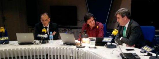 Tebas y Cardenal explican en 'El Larguero' la venta centralizada de los derechos de TV: el objetivo es venderlos por 1.000 millones