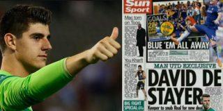 ¿Sin sustitutos para Casillas? Courtois niega en COPE que su futuro sea blanco y 'Sun Sport' anuncia que De Gea se queda en Manchester