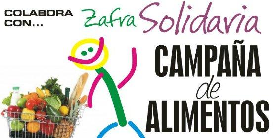 Zafra Solidaria desarrolla su campaña de recogida de alimentos
