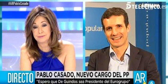 """Ana Rosa riñe a Pablo Casado: """"¿En el PP ya os habéis vacunado de la alergia a los medios?"""""""