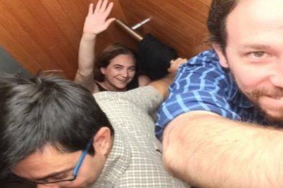 Pablo Iglesias, atemorizado y preso de la angustia al quedarse encerrado en un ascensor con Ada Colau