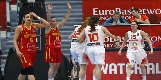 España accede con sufrimiento a 'semis' y logra billete al Preolímpico tras vencer a Montenegro por 75-74