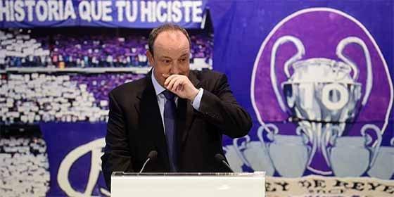 Rafa Benítez, al borde de las lágrimas en su presentación como nuevo entrenador del Real Madrid