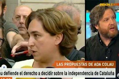 """David Gistau mete en cintura a Ada Colau: """"Usted se ha hecho soberanista esta mañana porque le conviene"""""""