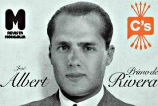 La revista 'Mongolia' presenta en su contraportada a Albert Rivera como si fuera Primo de Rivera