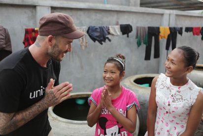 David Beckham viaja a Camboya como embajador de UNICEF