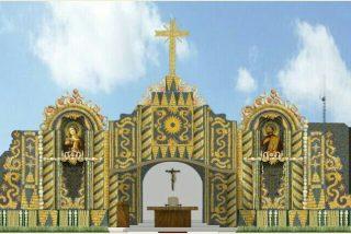 Un altar de maíz para el papa en Paraguay