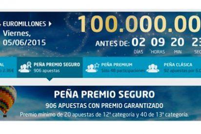 El 5 de junio, Super Bote de 100 Millones en Euromillones