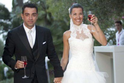 Xavi Hernández y su mujer solidarios con los niños enfermos