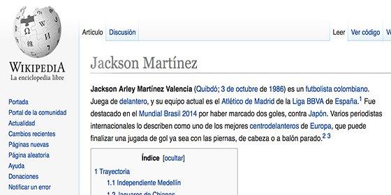 Wikipedia Confirma Que Ha Fichado Por El Atletico De Madrid Periodista Digital