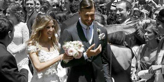 Se lía en la boda de Fernando Llorente