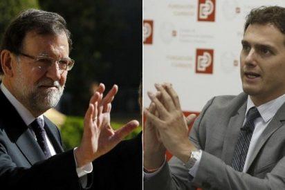 Mariano Rajoy almuerza en Moncloa con Albert Rivera para discutir pactos en Ayuntamientos y CCAA