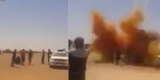 [Vídeo] Masacre en Irak al explotar una bomba que estaban desactivando