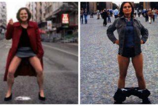 Ada Colau ficha como jefa de prensa a 'Miss Bragas': una 'post-porno' a quien le gusta mucho mearse en la calle