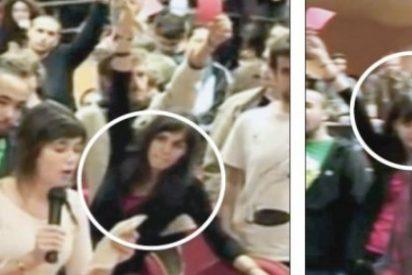 ¡Pillada! El vídeo de la fiera portavoz del 'circo Carmena' en un escrache a Rosa Díez