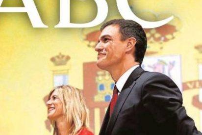 ABC no se fía ni de la corbata ni de la bandera nacional de Sánchez