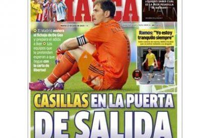 """Marca tiene claro el inminente adiós de Iker: """"Casillas, en la puerta de salida"""""""