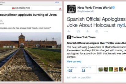 La prensa exige a la podemita Carmena y al PSOE que echen a patadas al antisemita Zapata