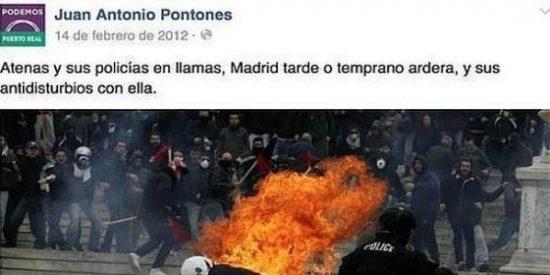 """Otro concejal de Podemos remata la faena: """"Me cago en la Constitución y en la puta Transición"""""""