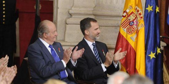 El Rey Felipe VI y el Rey Juan Carlos celebran el 30 aniversario de la a adhesión de España a la Comunidad Europea