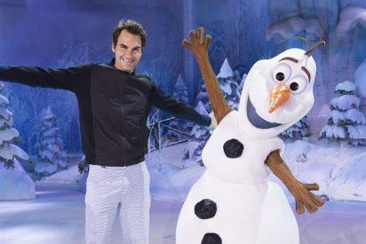 Roger Federer hace una parada en Disneyland París para refrescarse