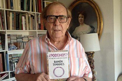 """Ramón Tamames: """"Jaume Roures ayudó a Podemos para dar a sus emisoras una mayor audiencia"""""""