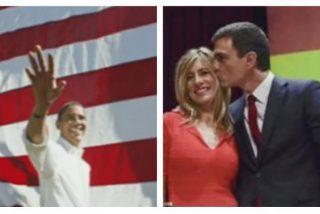 Pedro Sánchez copia a Obama para lograr el 'efecto patriota'