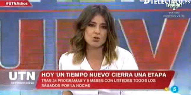 """El dolor de Sandra Barneda al despedir 'UTN': """"Lo hemos intentado"""""""