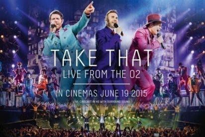 Cinesa retransmitirá en directo el último concierto de la actual gira de Take That