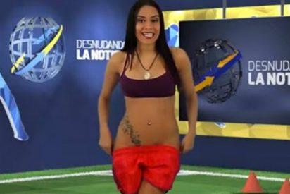 [Vídeo] La pícara presentadora de TV se desnuda para celebrar un triunfo