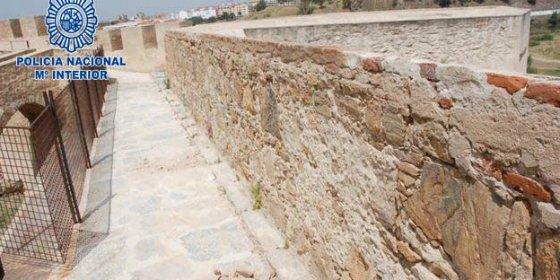 Localizados los presuntos autores de diversos daños causados en la Alcazaba de Badajoz