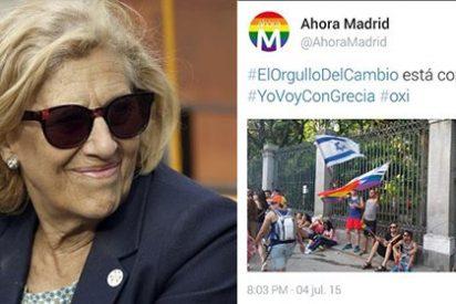Cachondeo en Twitter después de que Ahora Madrid y Podemos confundan la bandera de Israel con la de Grecia