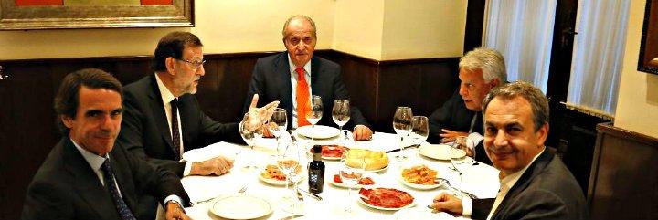 Rajoy invita a cenar al Rey Juan Carlos y a los expresidentes Gonzalez, Aznar y Zapatero