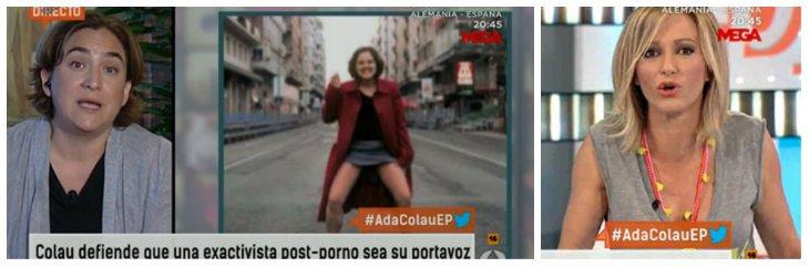 """Ada Colau defiende a la 'meona': """"No se la contrata como artista"""""""