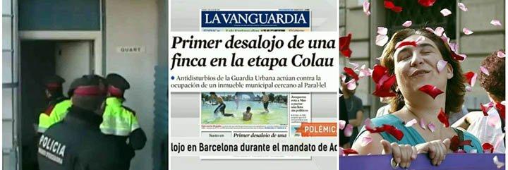 "Griso: ""La alcaldesa Colau, activista contra desahucios, ordena su primer desalojo"""