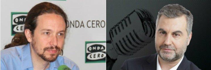 Carlos Alsina da cera a Pablo Iglesias a próposito de la pifia de Tsipras y de la manipulación de TV3 o Canal Sur
