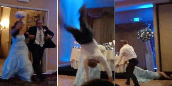 [Vídeo] El novio casi mata a la novia en el banquete de bodas ¡por patoso!