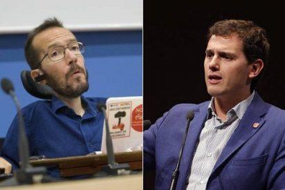 Rifirrafe entre Albert Rivera y Pablo Echenique en Twitter por la coña del referéndum griego