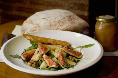 Higos en la cocina de verano de Muñagorri