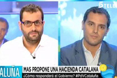 """El 'zas' de Rivera a un socialista en Telecinco: """"Es ridículo, todo el mundo sabe que apoyamos al PSOE en Andalucía menos este señor"""""""