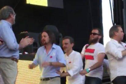 El socialista Carmona baila la 'conga' con Pablo Iglesias en el Orgullo Gay