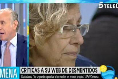 """Inda avisa de la """"web fascista de Carmena"""": """"Esto no es una tontería que se le ha escapado a la pobre abuelita; ¡va en serio!"""""""