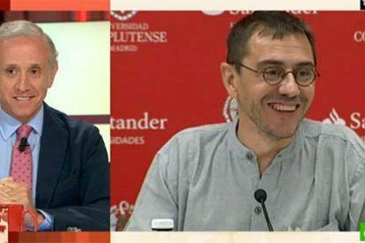 Monedero llama 'tonto' a Inda desde su destierro y el periodista le recuerda que intentó robar al país