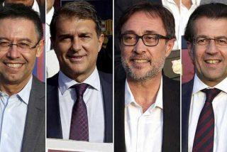 Los cuatro candidatos a presidir el Barça apuestan con distinta intensidad por la independencia de Cataluña