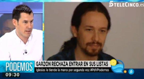 """Juan Segovia critica las formas del todopoderoso de Podemos: """"Es sorprendente que Iglesias quiera a Tania o a Garzón, ¿no iba a ser el pueblo quien eligiera?"""""""