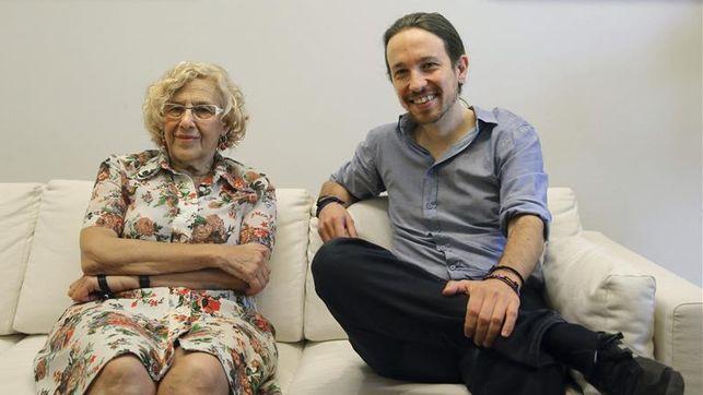 """Así critica Pablo Iglesias """"los enchufes en el franquismo""""... y calla sobre los enchufes de Carmena y Colau"""