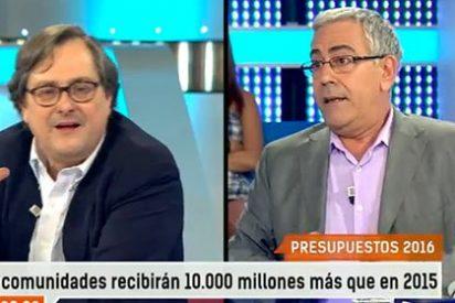 """Marhuenda se harta del discurso anti PP de Bolaño: """"A ver si llega Podemos y te quedas saciado para que veas lo que es que las cosas funcionen mal"""""""