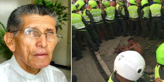 La paliza de muerte al drogado que degüella y le saca los ojos a un sacerdote