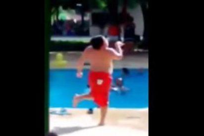 ¡No te pierdas el baile del 'Cuban Pete' de este niño gordito en la piscina!